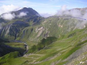 Panoramique Chemin du Curé Col du Bonhomme