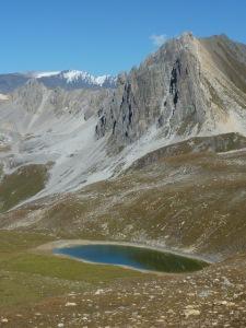 Lac Verdet au pied de l'Aiguille des Aimes