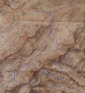 Carte Combe de la Neuva Passeur de Pralognan Lacs de la Forclaz