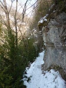 Vers la cascade de la Doriaz