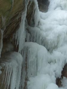 Grande Cascade Jacob glace détail