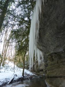 Ruisseau du Pontet glace
