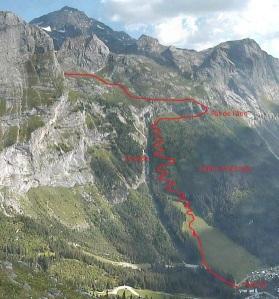 Itineraire Grand Marchet vu par la webcam du Mont Bochor