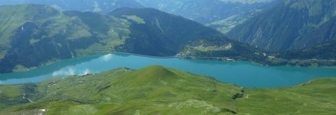 Lac de Roselend vu de la combe d Arpire