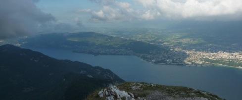 Lac du Bourget du sommet de la Dent du Chat