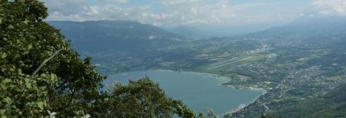Vue sur le Lac du Bourget du Roc Blanc