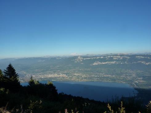Mont Blanc depuis la Montagne du Chat
