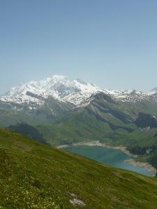 Mont Blanc et Rocher du Vent vus de la Roche Parstire