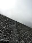 Pointe de la Terrasse Passage des schistes